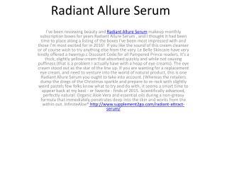 Radiant Allure Serum