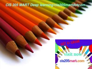 CIS 205 MART Deep learning/cis205martdotcom