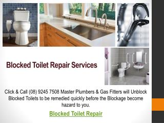 Blocked Pipes Repair Services