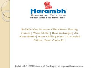 Water Chillers Manufacturers in Aurangabad
