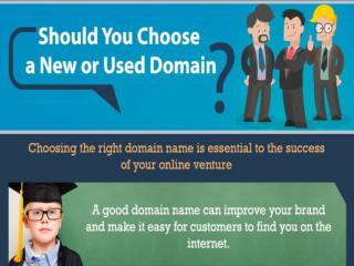 Should You Choose a New or Used Domain?