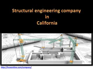 Structural engineering company in California