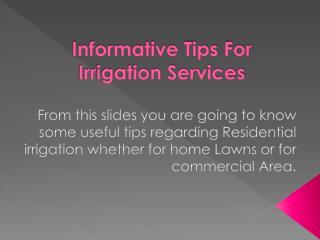 Irrigation Services| Residential Sprinkler System |Belmont Irrigation Services