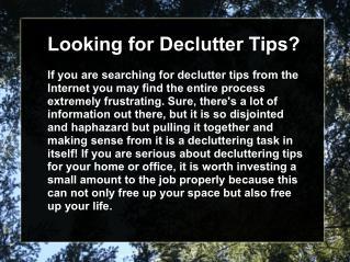 Decluttering basement tips