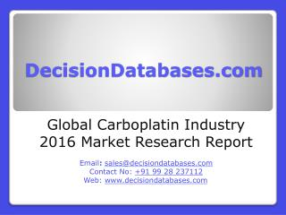Carboplatin Market Report - Global Industry Analysis