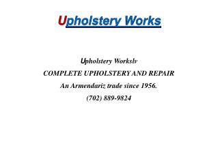 Auto, RV and Furniture Upholstery Repair Las Vegas