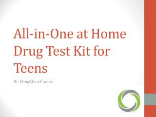 All-in-One at Home Drug Test Kit for Teens