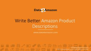 3 Tips on How to Write Better Amazon Product Descriptions