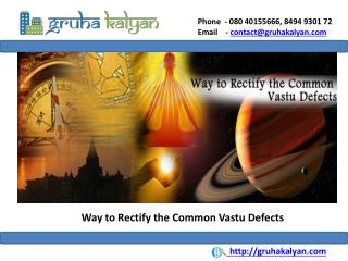Way to Rectify the Common Vastu Defects
