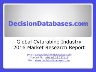 Global Cytarabine Industry Analysis and Revenue Forecast 2016