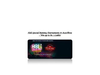Holi Special Rummy Tournament on 24th March 2016 @ Ace2Three