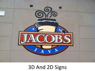 3D And 2D Signs in UAE