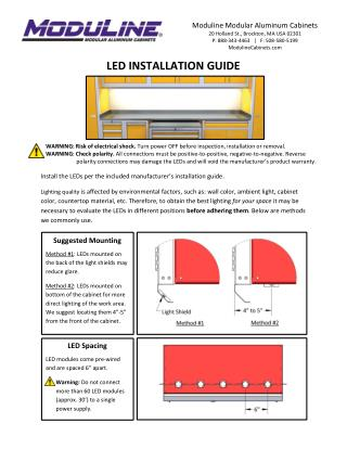 Led Installation Guide for Aluminum Storage Cabinets