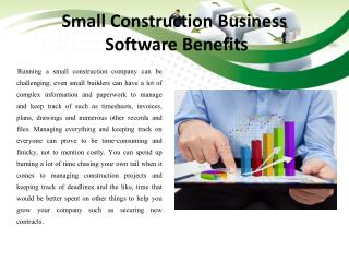 Small Construction Business Software Benefits