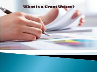 What is a Grant Writer ?