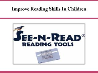 Improve Reading Skills In Children