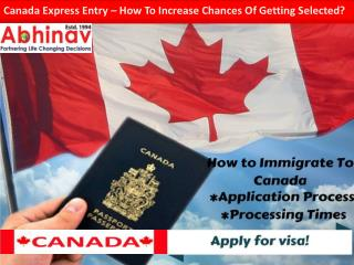 Canada express entry–how to increase chances of getting selected?