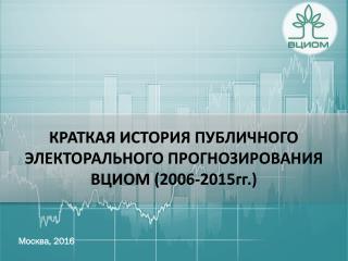 Краткая история публичного прогнозирования ВЦИОМ 2006-2016