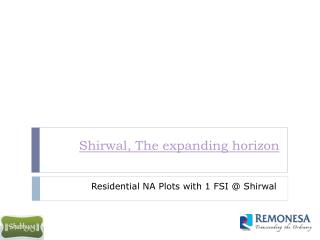 NA Plots for sale near shirwal Pune