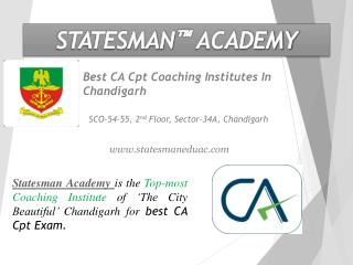 CA Cpt Coaching Institutes In Chandigarh