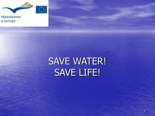 Save Water, Save Life and Save the World