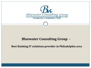 Bluewater Consulting Group  - Best Banking IT Solutions Provider in Philadelphia Area