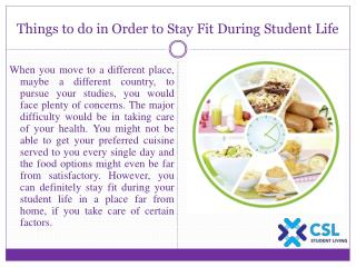 Things to do in Order to Stay Fit During Student Life