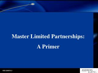 Master Limited Partnerships: A Primer
