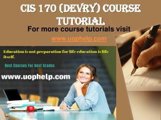 CIS 170 Academic Achievement/uophelp