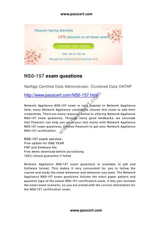 NetApp NS0-157 exam questions