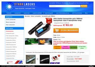 Ultra starker laserpointer grün 3000mw