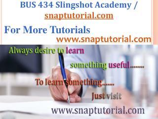 BUS 434   Slingshot Academy / snaptutorial.com