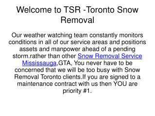 Cheap Snow Removal in Toronto