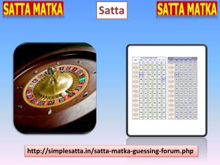 One f the Best Satta Game Provider at Simple Satta