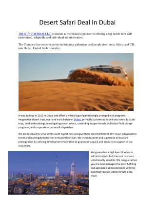 Holiday package in DUBAI