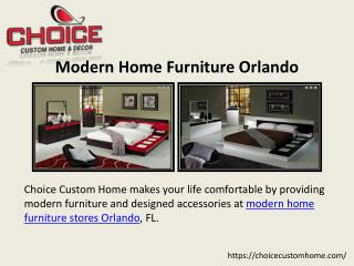 Modern Home Furniture Florida