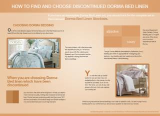 HOW TO FIND AND CHOOSE DISCONTINUED DORMA BED LINEN