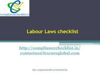Labour Laws checklist