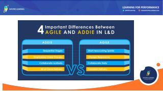 4 Important Differences Between Agile and ADDIE in L&D