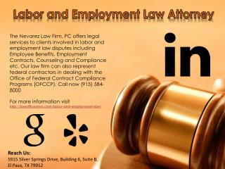 Labor and Employment Law Attorney - The Nevarez Law Firm