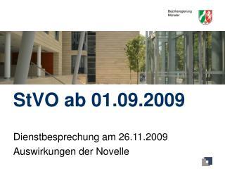 StVO ab 01.09.2009