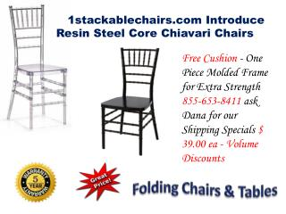 1stackablechairs.com Introduce Resin Steel Core Chiavari Chairs