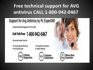 Call -1-800-942-0467 AVG antivirus tollfree