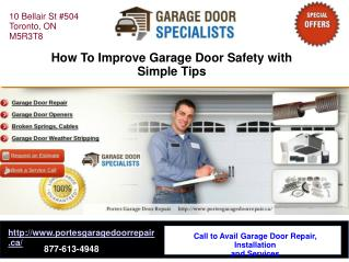 How To Improve Garage Door Safety with Simple Tips