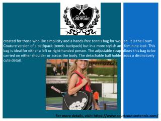 Court Couture Tennis Bag