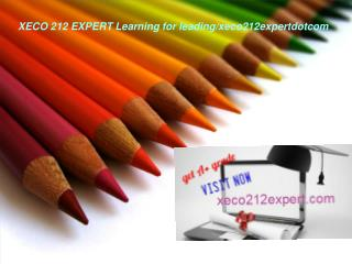 XECO 212 EXPERT Learning for leading/xeco212expertdotcom