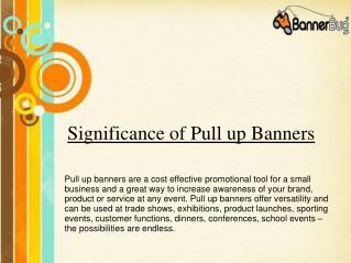 Significance of Pull up banners