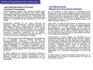 Juan Sebasti n Betancur Escobar    Fundaci n Proantioquia