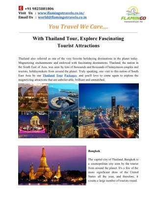 Explore the fascinating destinations of thailand