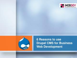 6 Reasons to use Drupal CMS for your next Business website
